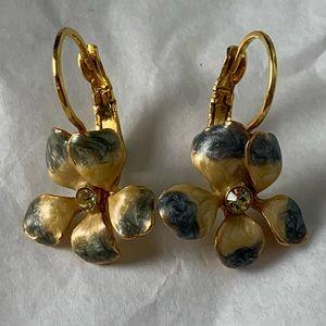 Joan Rivers Flower Drop Earrings Victorian Revival
